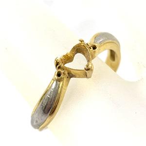 K18/Pt900 石の取れてしまった指輪