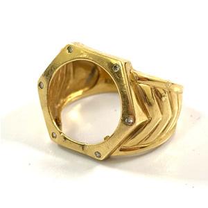 K18 コインの取れてしまった指輪