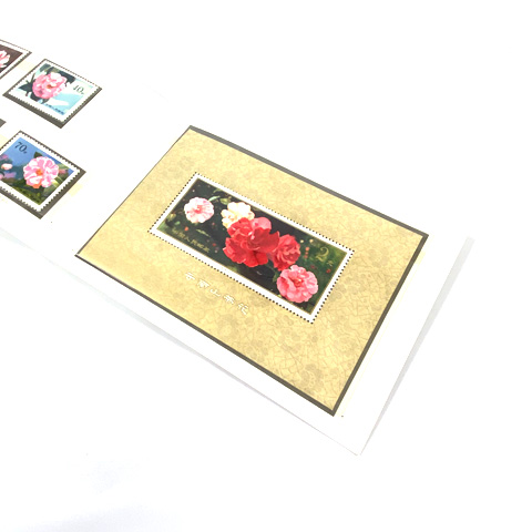 中国切手 雲南のツバキ 小型シート T37