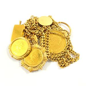K24 K18 ネックレス コイン まとめ