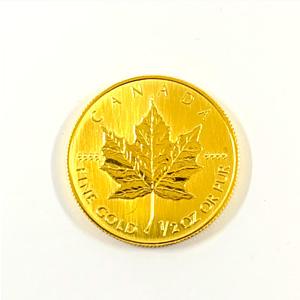 純金 999.9 K24 カナダ メイプルリーフ 金貨