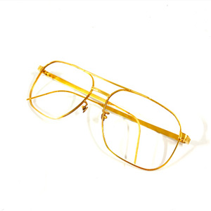 K18 750 メガネフレーム 金縁眼鏡