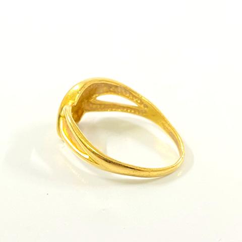 K18 750 歪んだ指輪
