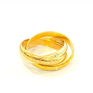 Cartier カルティエ トリニティリング 750 K18 指輪