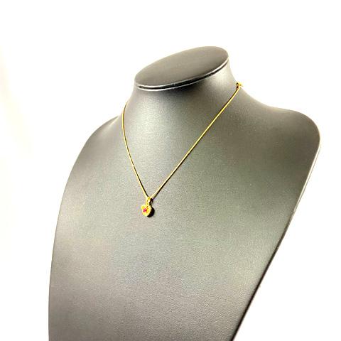 K18 750 ルビー ダイヤモンド デザインネックレス