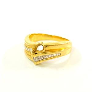 K18 750 石の取れてしまった指輪