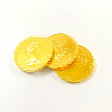999.9 純金 K24 メイプルリーフ金貨 コイン まとめ