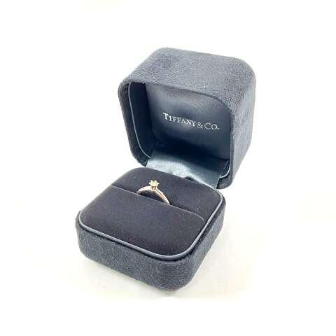 TIFFANY ティファニー PT950 プラチナ ダイヤモンドリング