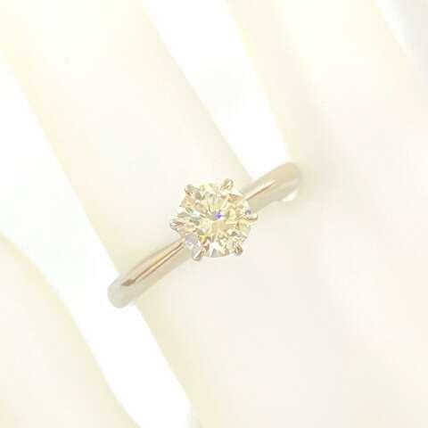 Pt900 プラチナ 一粒ダイヤモンドリング 指輪