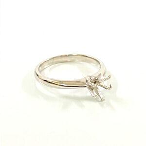 Pt950 プラチナリング 石の取れた指輪